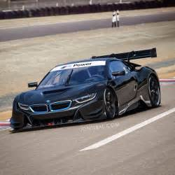 rendering bmw i8 racing car