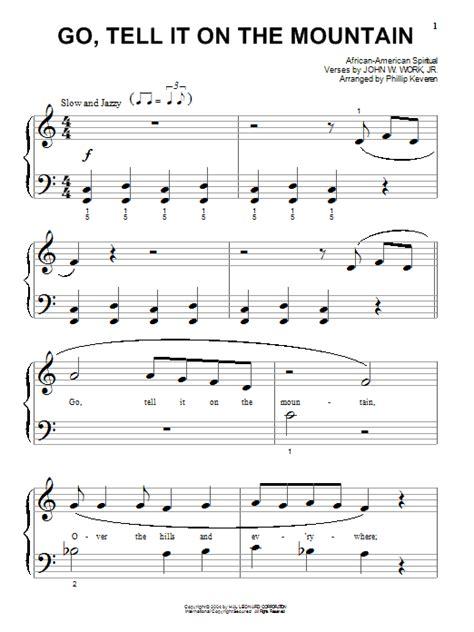 printable lyrics go tell it on the mountain go tell it on the mountain sheet music direct