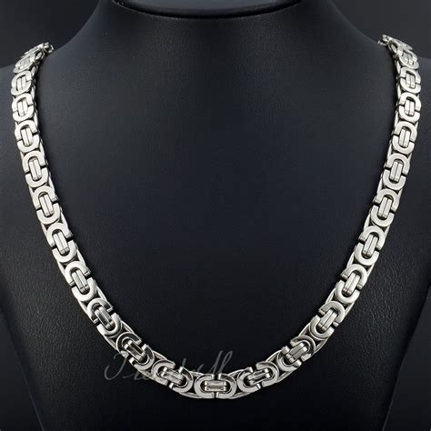 black chaign il מוצר black silver gold chain necklaces for mens byzantine stainless steel bracelets