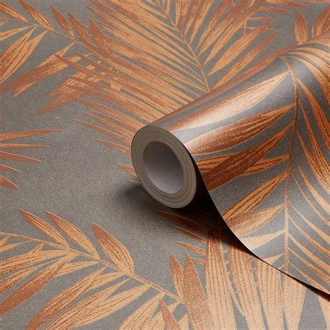 Arthouse Cressida Copper & Grey Leaves Glitter Effect