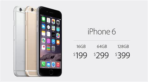 iphone 6 starts at 199 iphone 6 plus at 299 on two year contracts