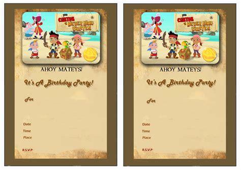 printable birthday invitations jake and the neverland pirates jake and the never land pirates birthday invitations