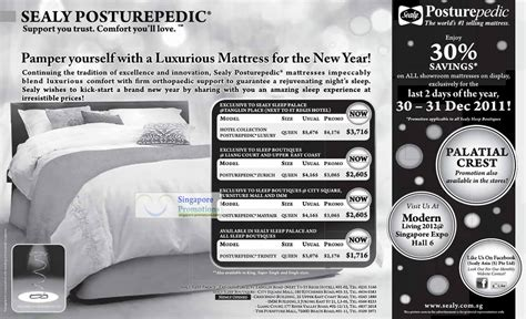 Sealy Posturepedic Mattress Reviews 2011 by Sealy Posturepedic Mattress Price List 30 Showroom