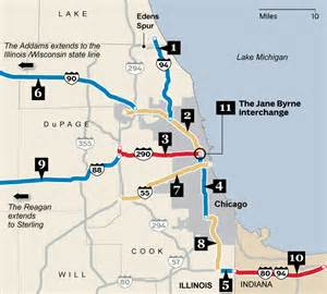 chicago highway map name that road the chicago expressways chicago tribune