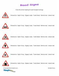Activities amp games road signs english worksheets lesson