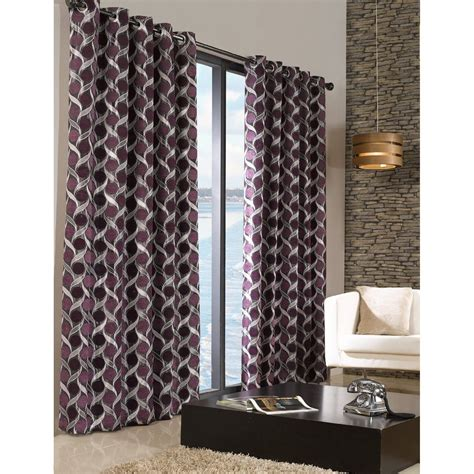 Patterned Curtains For Living Room by Chenille Patterned Fully Lined Eyelet Ring Top Curtains