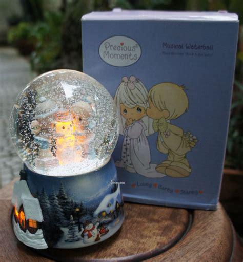 Bola Snowball Musik Box light snowman box