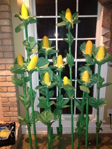 How To Make Corn Stalks Out Of Paper - cornstalks for fair this year made with floral