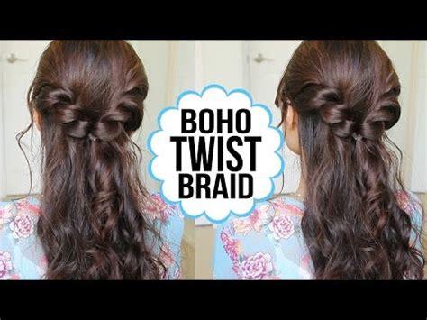 easy hairstyles with braids youtube easy twist braid hairstyle hair tutorial youtube