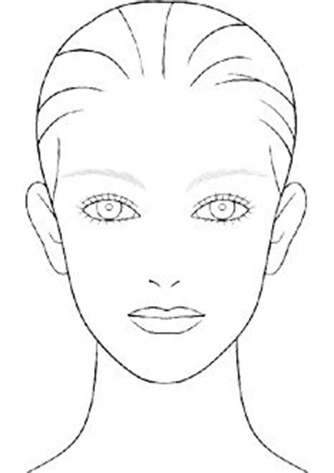 makeup design template design sheets on charts makeup