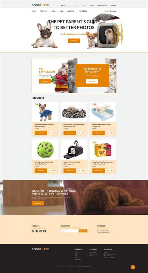 shopify themes download free pet store shopify theme