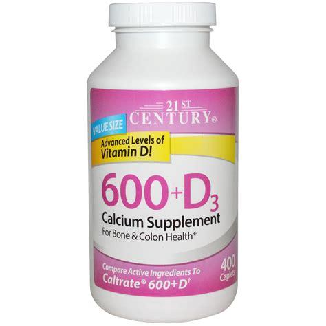 Suplemen Kalsium 21st century health care 600 d3 calcium supplement 400