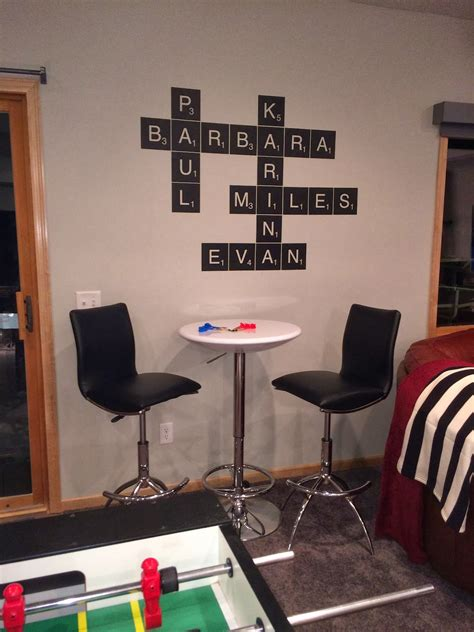 decorating with wall vinyl scrabble tile wall sticker