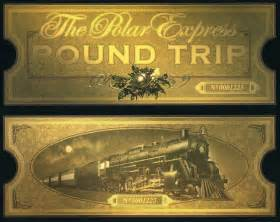 polar express golden ticket template for the of the child the polar express birthday