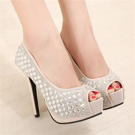 High Heells 14cm 14cm high with single shoes waterproof with the fish high heels on luulla