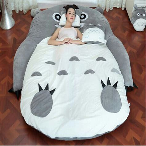 totoro bed 1 7 2 m totoro plush double beds kawaii giant stuffed