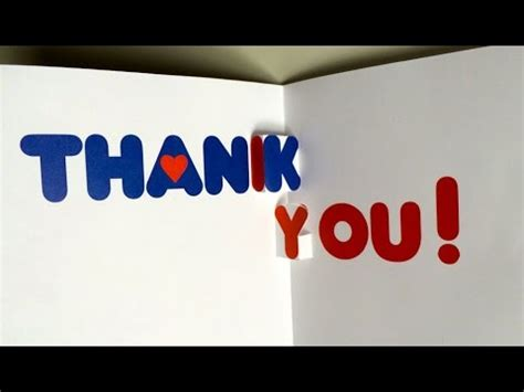 how to make a thank you pop up card make your thank you card pop up