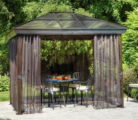 screen gazebo 27 gazebos with screens for bug free backyard relaxation