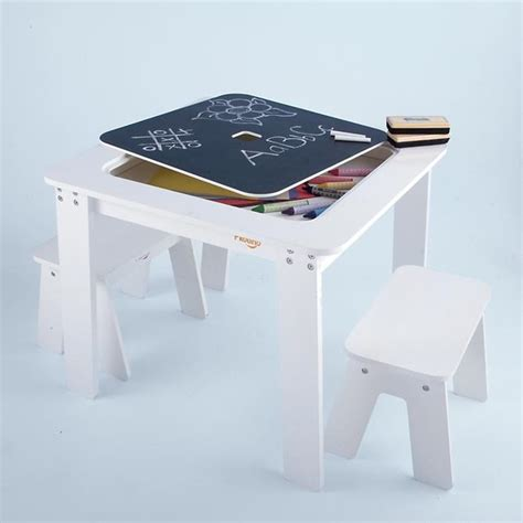 Kid Table by Reversible White Chalkboard Table Modern