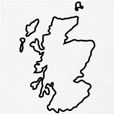 Scottish Outline by Scotland Map Outline T Shirt Spreadshirt