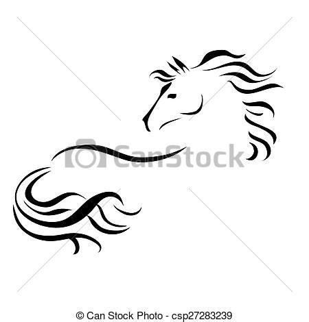 cavallo clipart cavallo vettore disegno cavallo stilizzato vettore