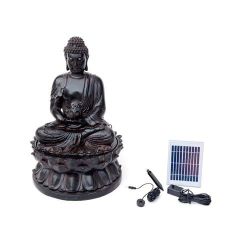 solar fountains with lights buddha solar water with led light