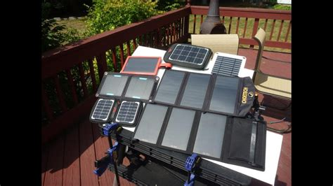 portable usb solar panel charger review tests part