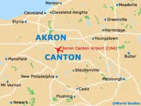 map of akron canton regional airport cak orientation