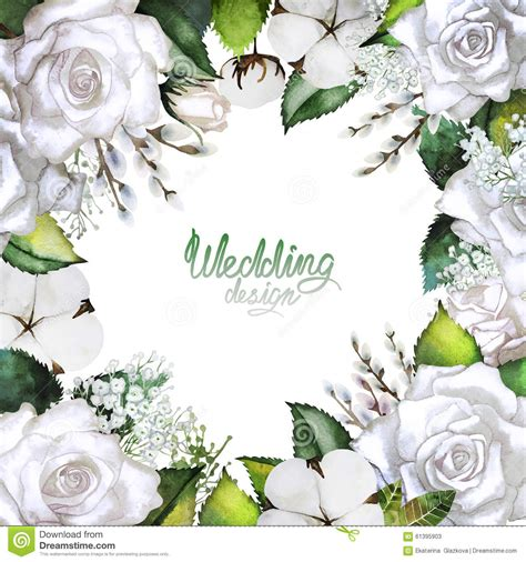 Wedding Card Design Floral by Wedding Card With White Floral Design Stock Illustration