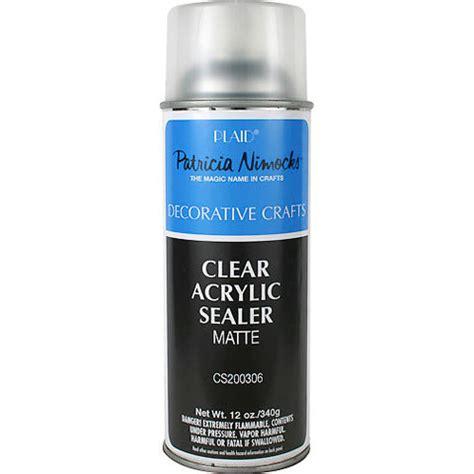 Clear Acrylic Sealer Plaid Nimocks Clear Acrylic Sealer Matte Aerosol Spray Can 12