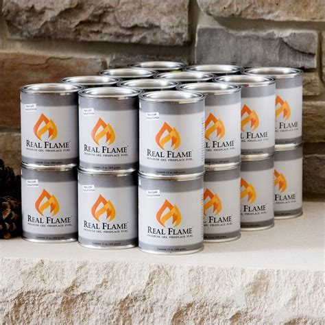 Fireplace Fuel Cans by Real 24 Pack Of 13 Oz Gel Fuel Cans For Fireplace