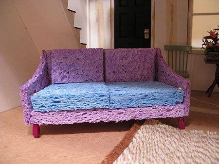 barbie sofa built  sponges   covered