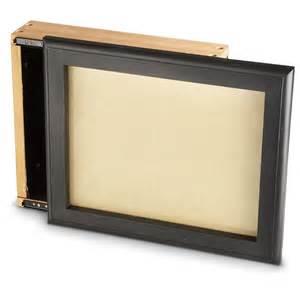 Locking Wall Cabinet Guide Gear Hide A Gun Sliding Picture Frame 607609 Gun