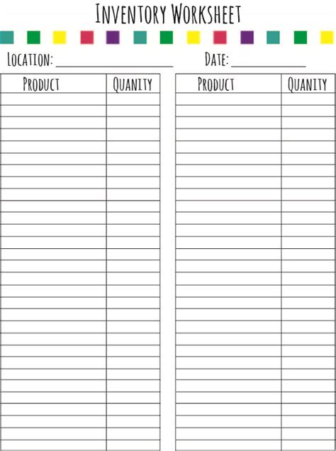 free printable inventory templates search results for inventory sheets free printable