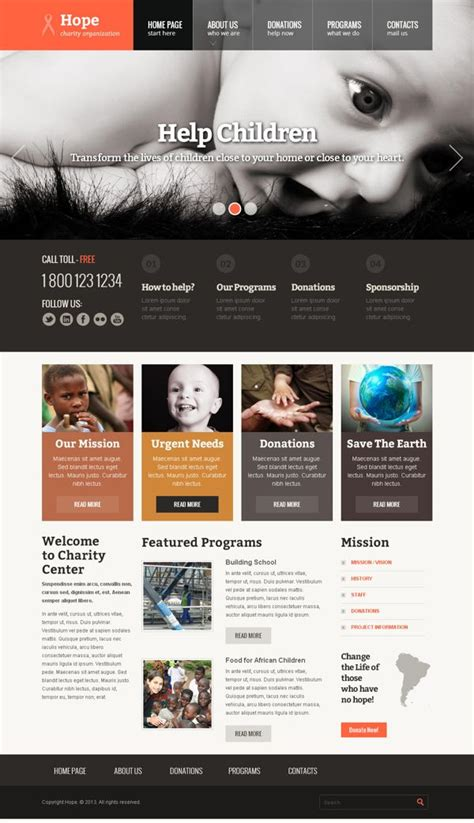 bootstrap templates for organisation hope children charity organization bootstrap template by