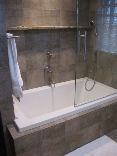 bathtub built in built in bath with shower bathroom ideas pinterest