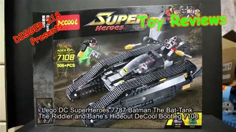 lego dc superheroes 7787 batman the bat tank the riddler and bane s hideout decool bootleg 7108