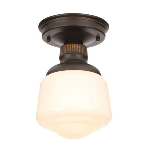 bronze flush mount light hton bay esdale 5 in 1 light rubbed bronze semi