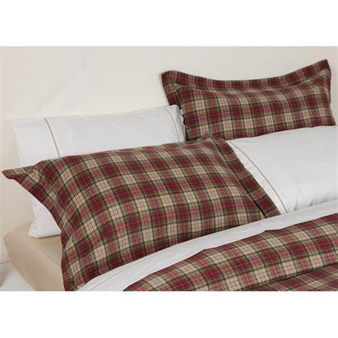 design port winton tartan plaid brushed cotton pillowcase design port from emporium home