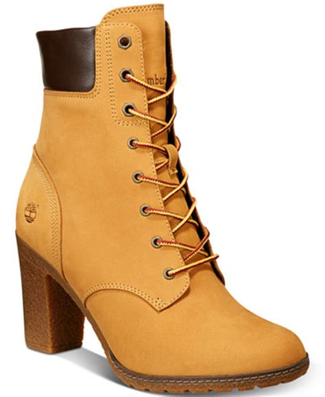 timberland boots for womens high heels timberland s glancy 6 quot lace up boots boots shoes