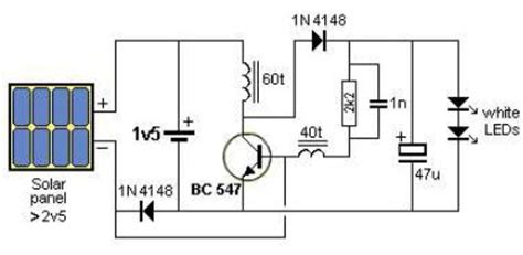 Simple Solar L Circuit by Solar Powered Garden Lights Electronic Project