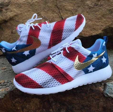 american running shoes american flag roshe run fourth of july patriotic