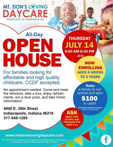Layout Of A House Open House Mt Zion S Loving Daycare