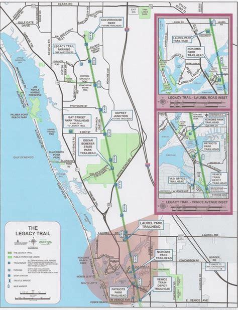 florida trail maps rail to trail the legacy trail venice fl