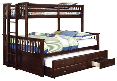 university oak twin  twin size bunk bed trundle  drawer bunk beds  redchairfurniture