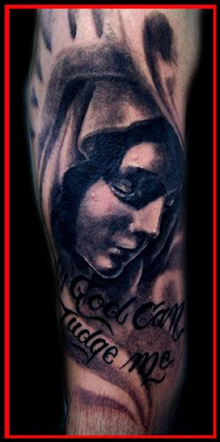 Christian Tattoo Artists Asheville Nc | darrin white god can judge me