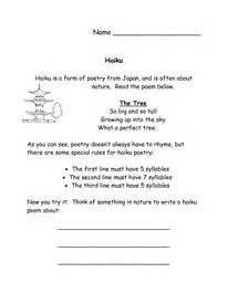 haiku template haiku poetry packet worksheet and templates