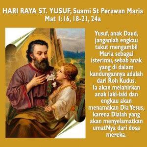 santo yusuf teladan iman kesetiaan  ketulusan hati