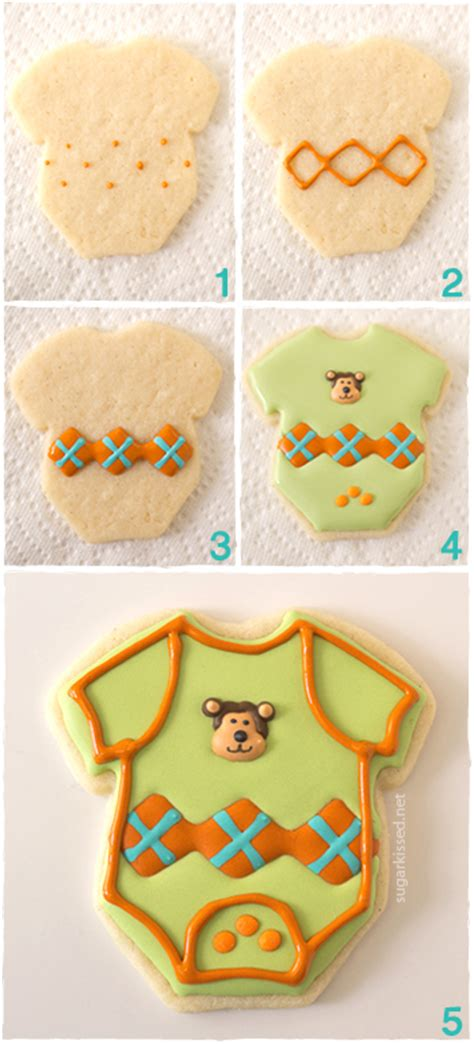 How To Make Baby Shower Cookies Favors by Onesie Baby Shower Cookies Favors You Can Make