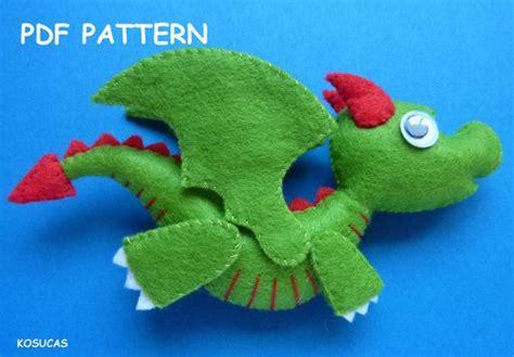 felt pattern pdf pdf sewing pattern to make a little felt dragon sewing